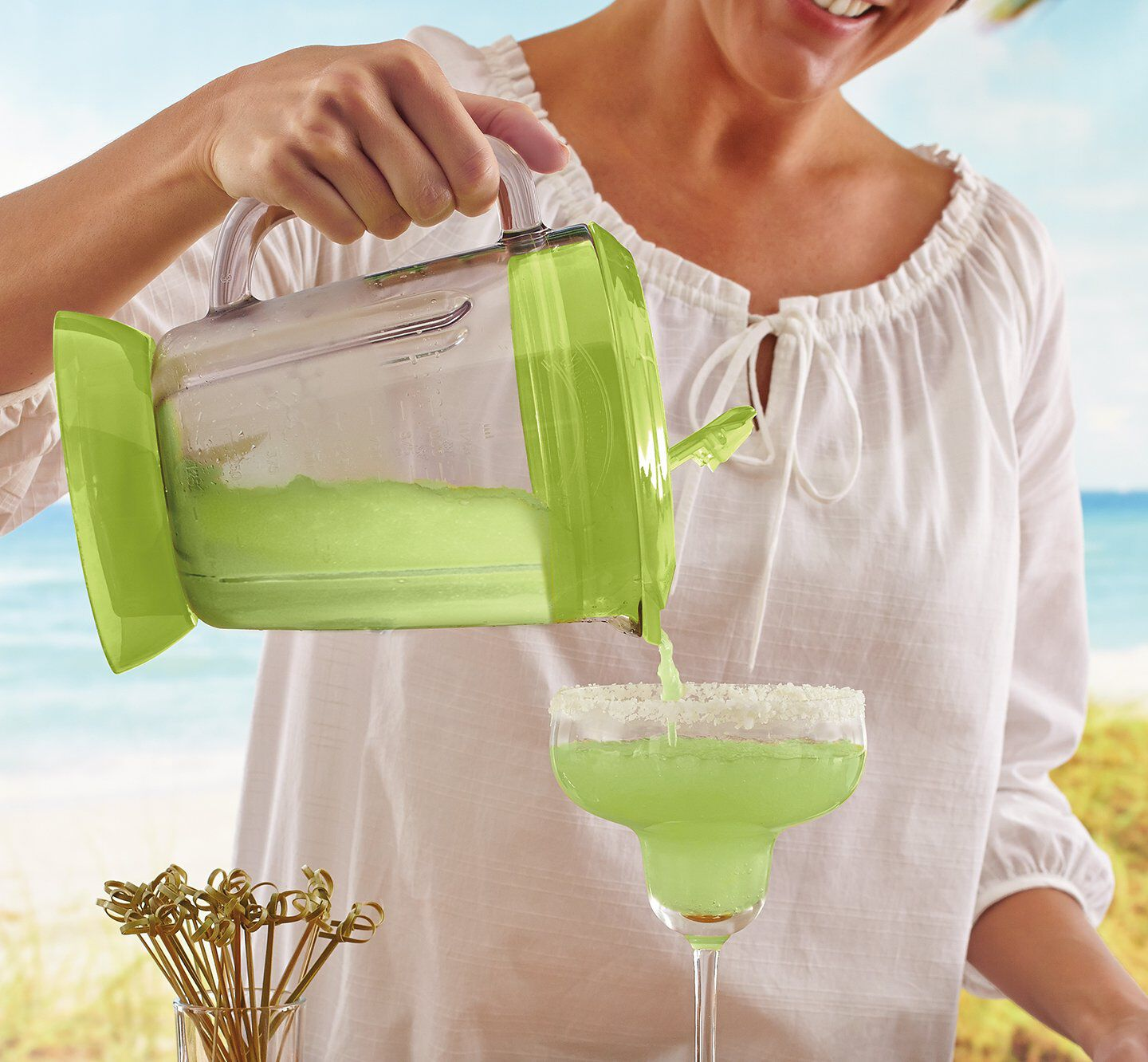 Margaritaville mixed drink machine plastic cup with lid